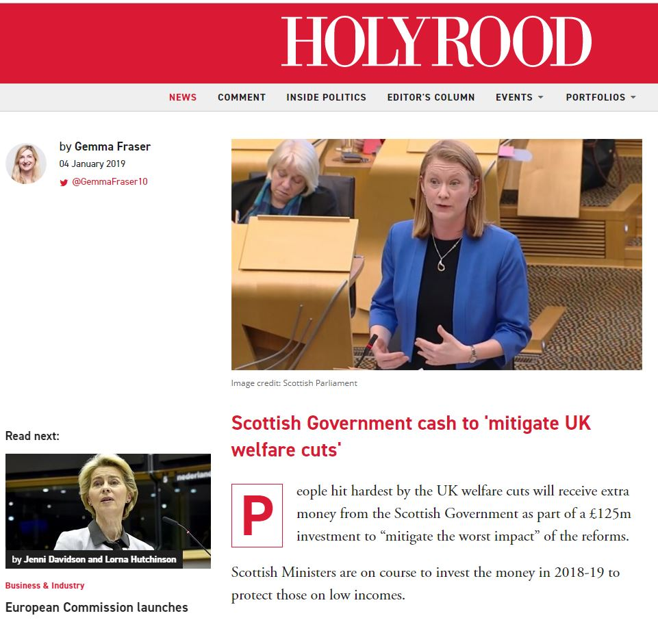 Calums List Holyrood