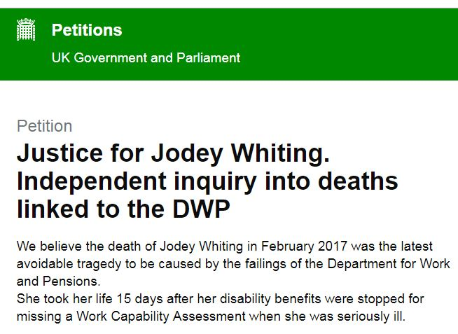 Jodey Whitings Petition