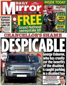 George Gideon Osborne Taking From The Disabled - AGAIN