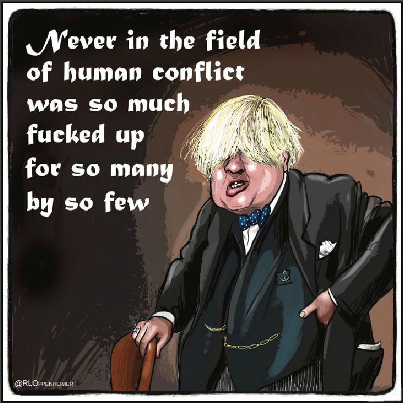 Calums List Number 10 Squatter Boris Johnson